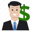 boss, businessman, finance, investor, marketing, money, seo icon