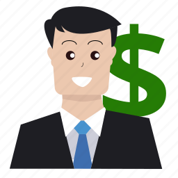 boss, businessman, finance, investor, marketing, money, seo icon