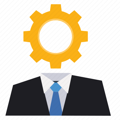boss, business, customer service, gear, marketing, seo, solution icon