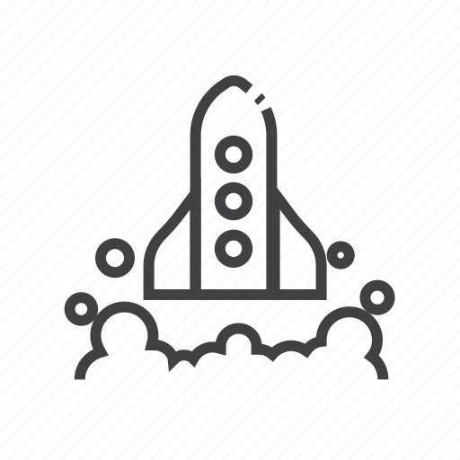 company, launch, spaceship, startup icon