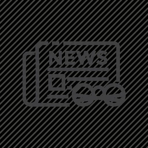 business, finance, news, newspaper, stock icon