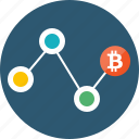 bitcoin, block chain, blockchain, chain, mining, process icon