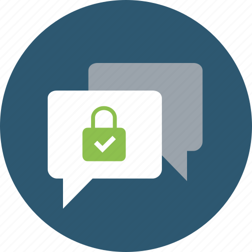 channel, chat, comment, communication, connection, conversation, encrypted, messages, protected, secure icon