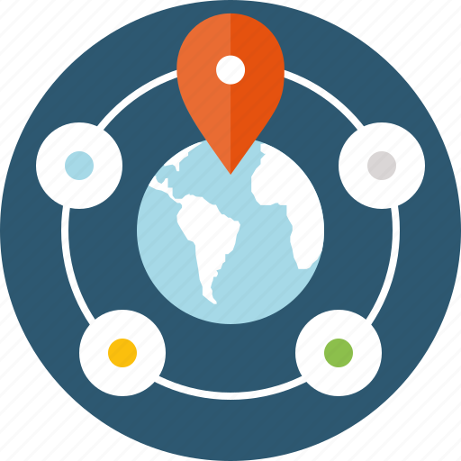delivery, departments, global, location, order, points, product, transportation icon