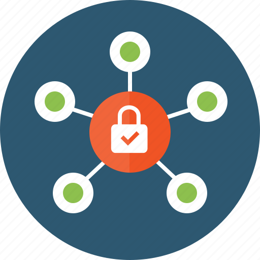 bitcoin, block chain, blockchain, lock, mining, network, protected, secure icon