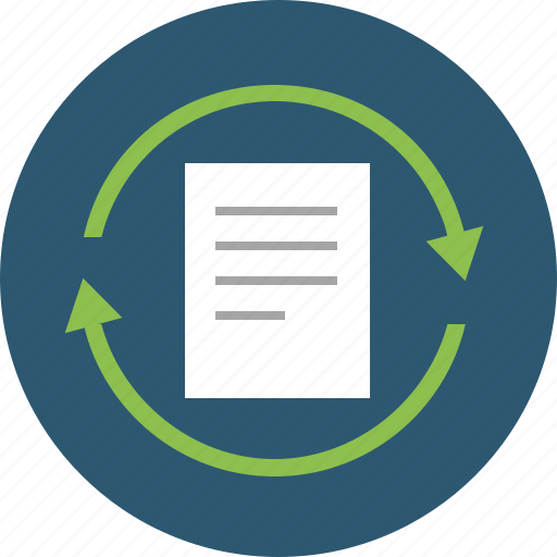 autosave, data, doc, document, exchange, form, handling, operation, process, processing, sync, update icon