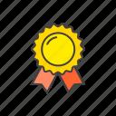 achievement, award, badge, prize, ribbon icon