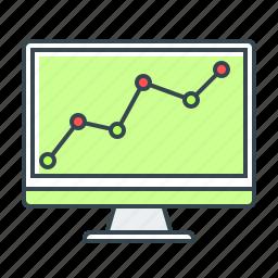 analysis, analytics, chart, diagram, monitoring, presentation, statistics icon