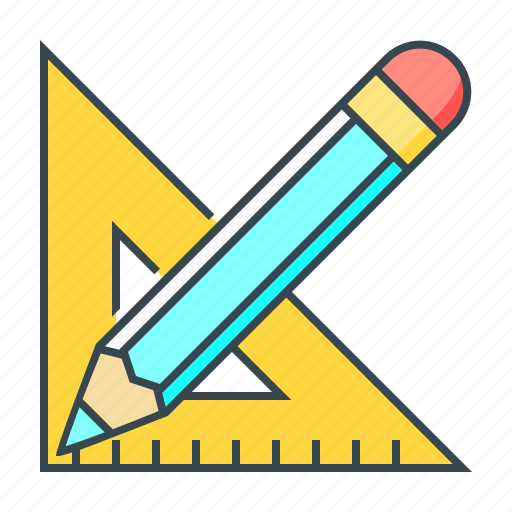 creative, design, drawing, graphic, pencil, ruler, tool icon