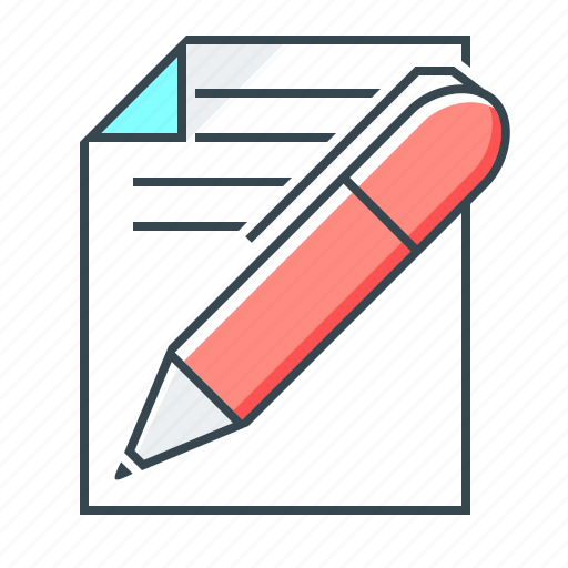 copywriting, edit, file, note, page, paper, pen icon