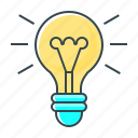 bulb, creative, electric, energy, idea, lamp, light icon
