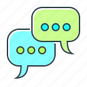chat, communication, conversation, message, mobile, social engagement icon