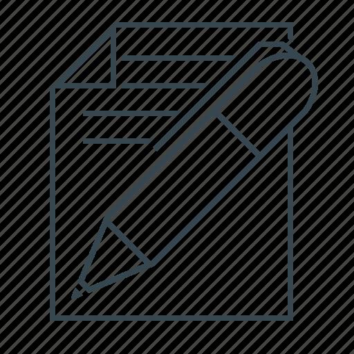 copywriting, documents, page, pen, text, write, writing icon