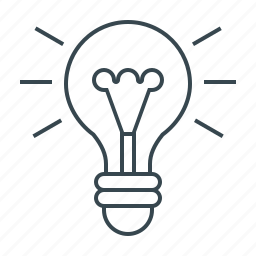 bulb, creative, design, energy, idea, lamp, light icon