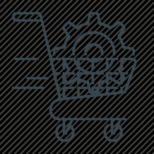 buy, commerce, e-commerce optimization, optimization, seo icon