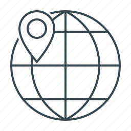earth, geotargeting, globe, location, marker, planet, pointer icon