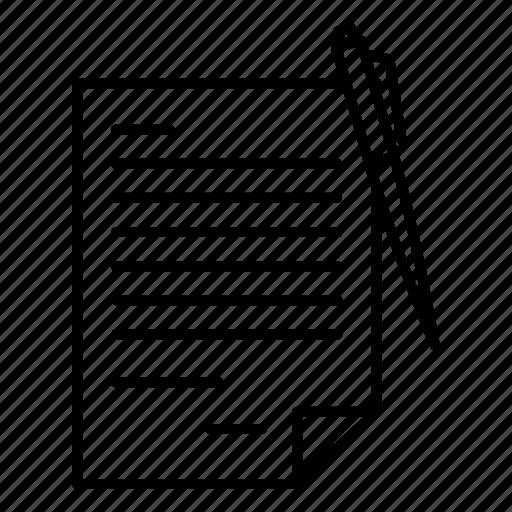 document, paper, seo icon