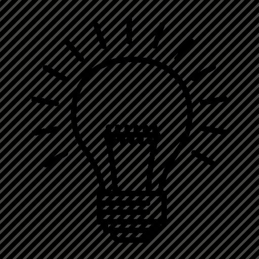 bulb, campagns, creative, idea icon