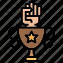 achievement, hands, success, trophy, win
