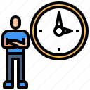 clock, cogwheel, gear, management, time icon