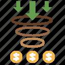 dollar, rate, optimization, conversion, funnel