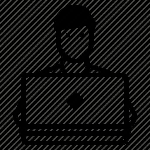 business entrepreneur, computer programmer, freelancer, online marketer, self employed, self employment, software developer icon