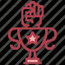 achievement, hands, success, trophy, win icon