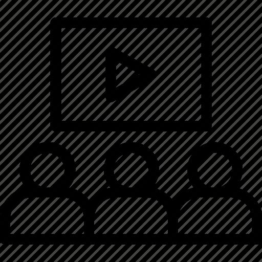 information sharing, online advertising, online tutorial, virtual classroom, webinar icon