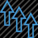 arrow, arrows, business, high, low icon