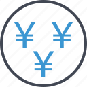 money, reserve, revenue, wealth, yen icon