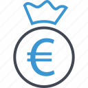 bag, euro, money, sign icon