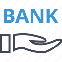 bank, banking, hand, hands, money icon