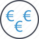 euro, money, pay, payment, sign icon