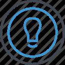 brilliant, bulb, idea, light icon