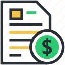 business analysis, business document, business report, financial report, investment plan icon