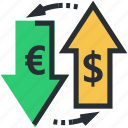 currency, currency exchange, foreign exchange, money conversion, money exchange icon