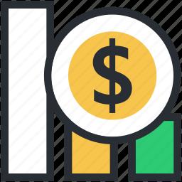 bar chart, bar graph, business chart, financial analysis, infographics icon