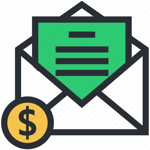 business documents, business email, business letter, envelope, official letter icon
