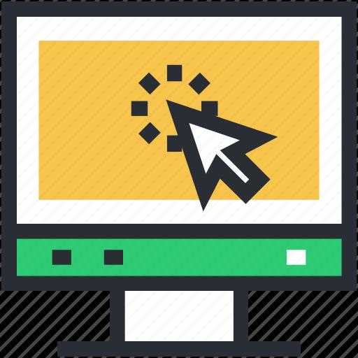 click, cursor, pay per click, pointer, ppc icon
