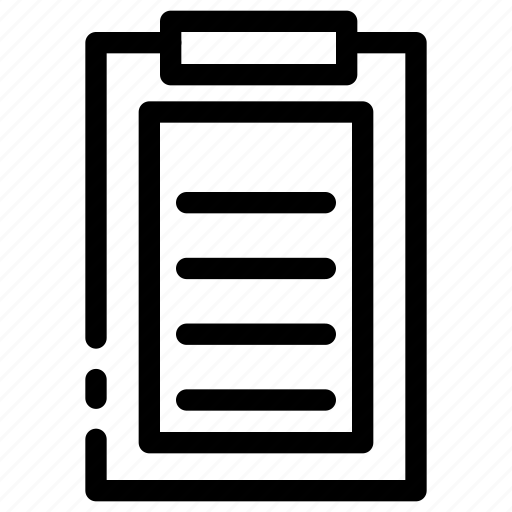 business, clip board, document, task icon