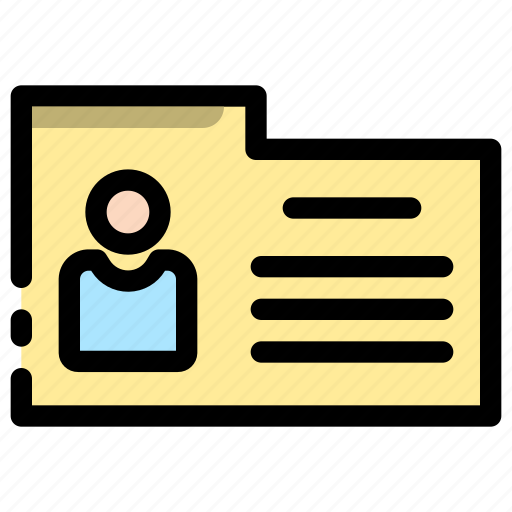 data, employee, file, folder, hris, profile, user icon