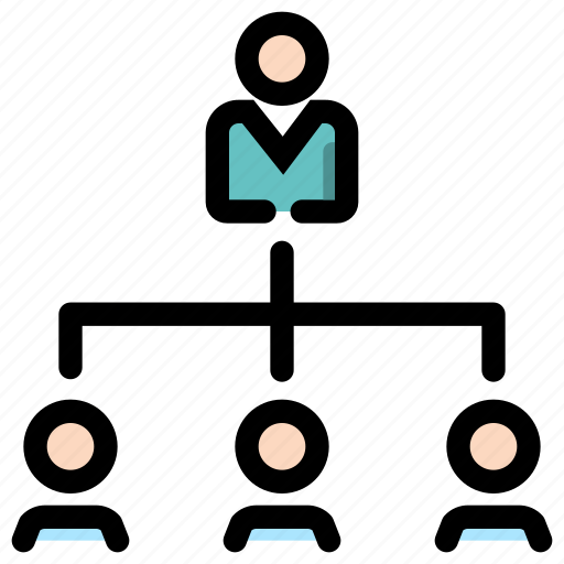 leadership, management, network, organization icon