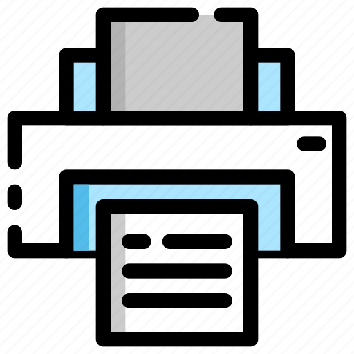 business, document, office, paper, print, printer icon