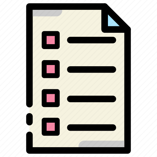 business, check list, document, file, office, paper icon