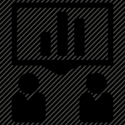 business, debate, economic, presentation icon