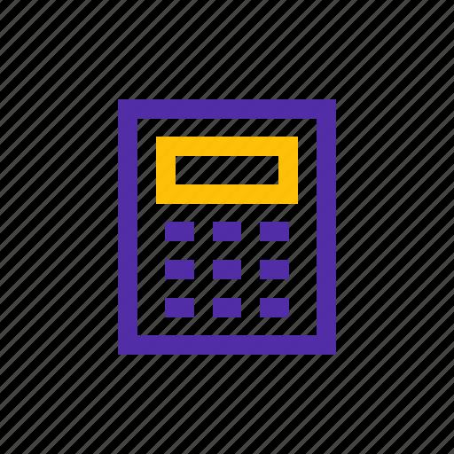 accounts, calculation, calculator, math icon