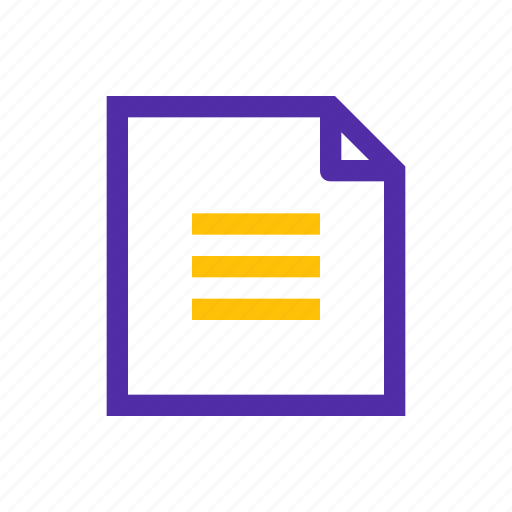 content, document, file, news, notice, office icon