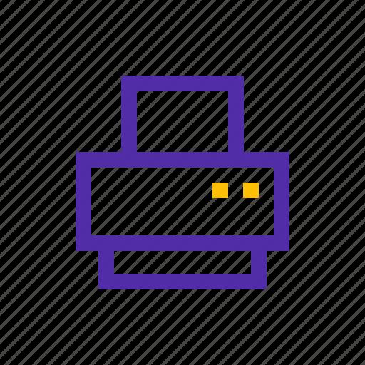 document, media, office, print, printer, technology icon