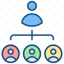 boss, business, hierarchy, leader, leadership, management, manager icon