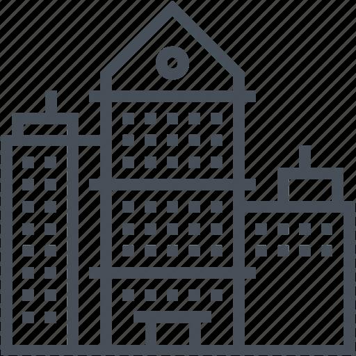 architectonic, architecture, building, city, hi tower, skyscraper, town icon